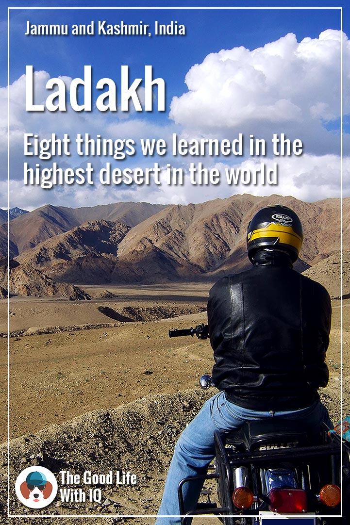 Pinterest thumbnail - On the bike in Ladakh