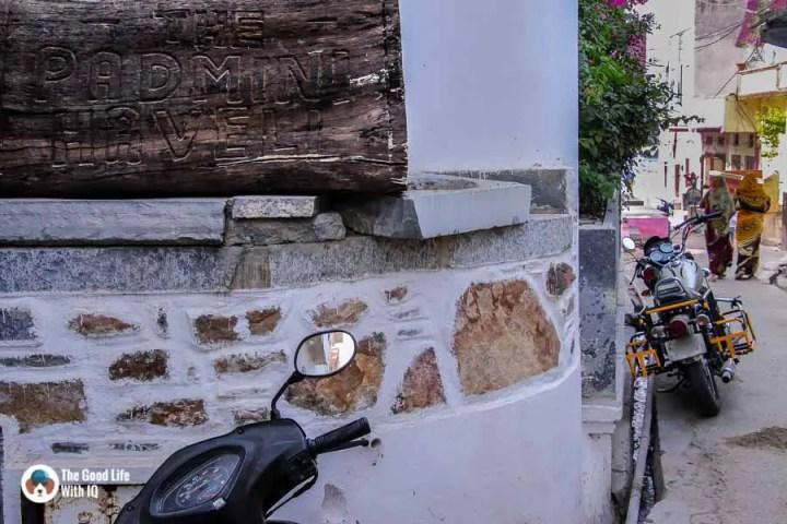 Chittorgarh Fort - Padmini Haveli signboard