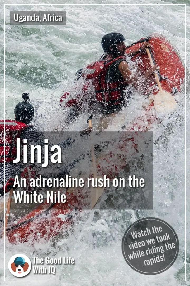 Pinterest thumbnail - White water rafting in Jinja, Uganda