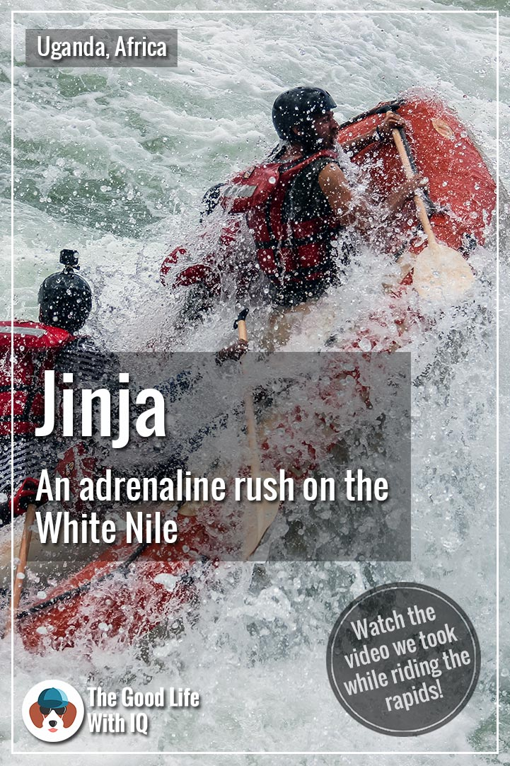 Pinterest thumbnail - White water rafting in Jinja, Uganda
