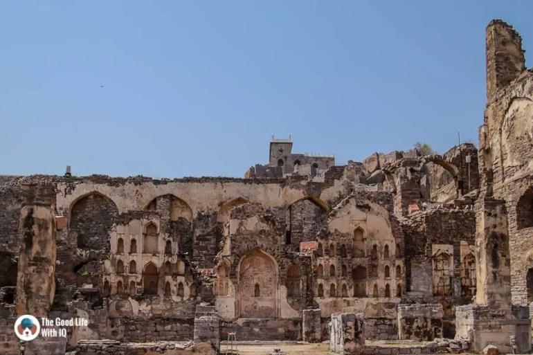 Rani Mahal courtyard, Golconda Fort