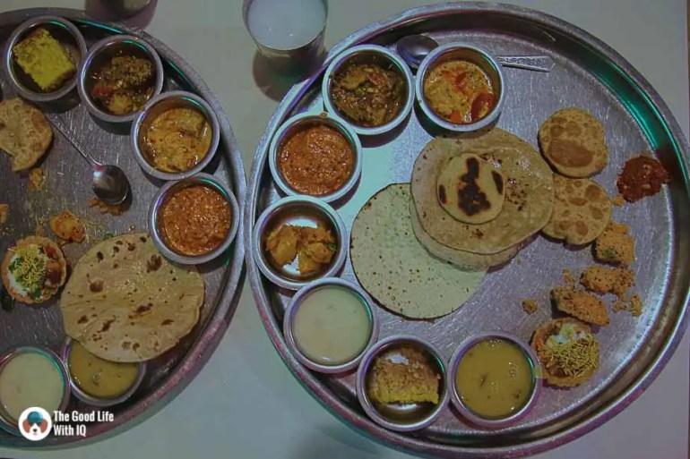 thali at Natraj Dining Hall