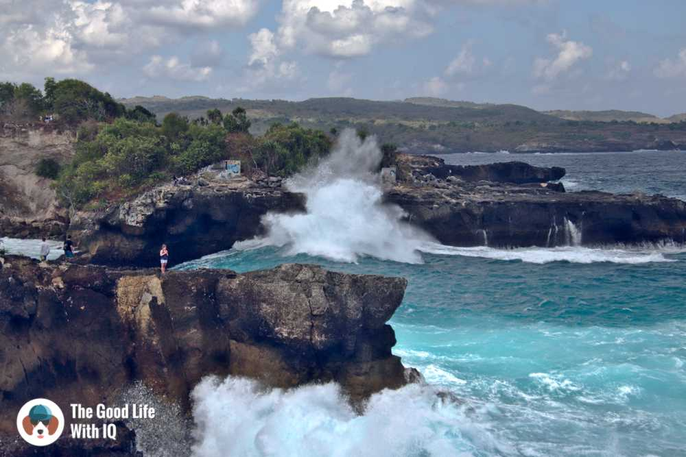 Crashing waves, Blue lagoon, Ceningan, Bali