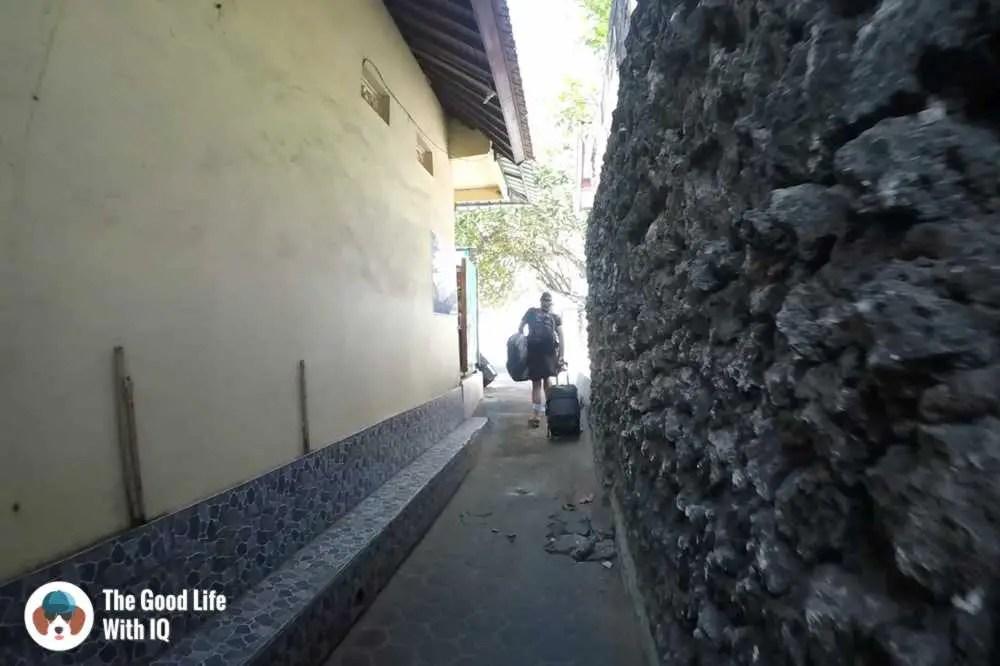 Corridor to Sanur beach, Bali