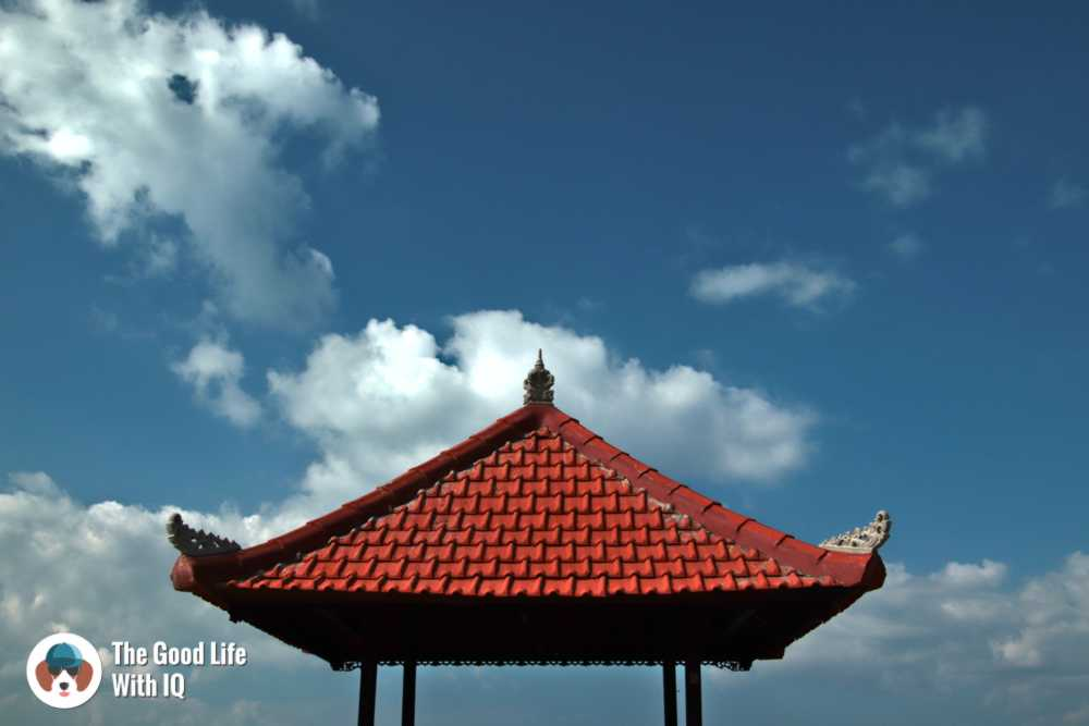 Gazebo on Sanur beach, Bali