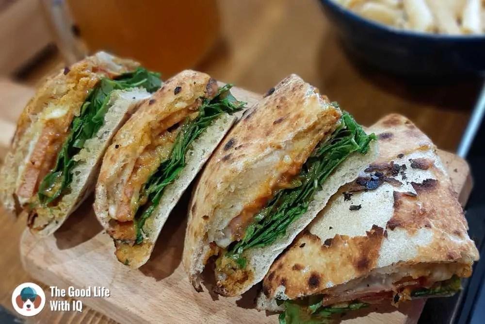Veg ham sandwich - Zza Bar