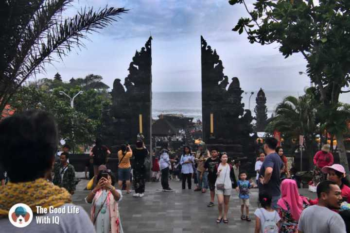 Tanah Lot entrance - 3 days in Ubud, Bali