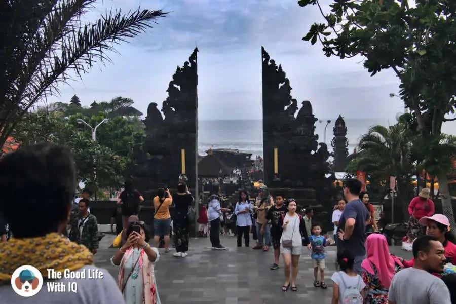 Tanah Lot entrance - 3 days in Ubud, Bali