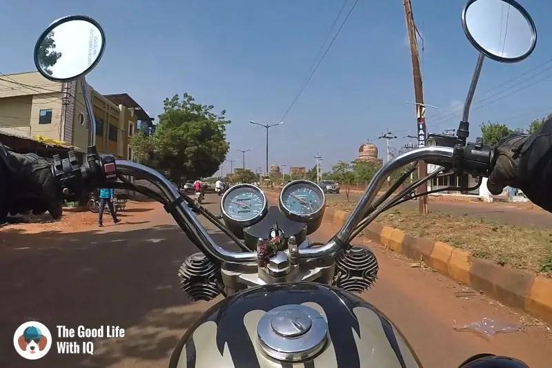 Red dust in Bidar-weekend motorbike ride to bidar