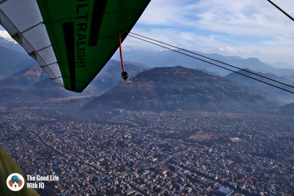 ultralight flight in pokhara, nepal