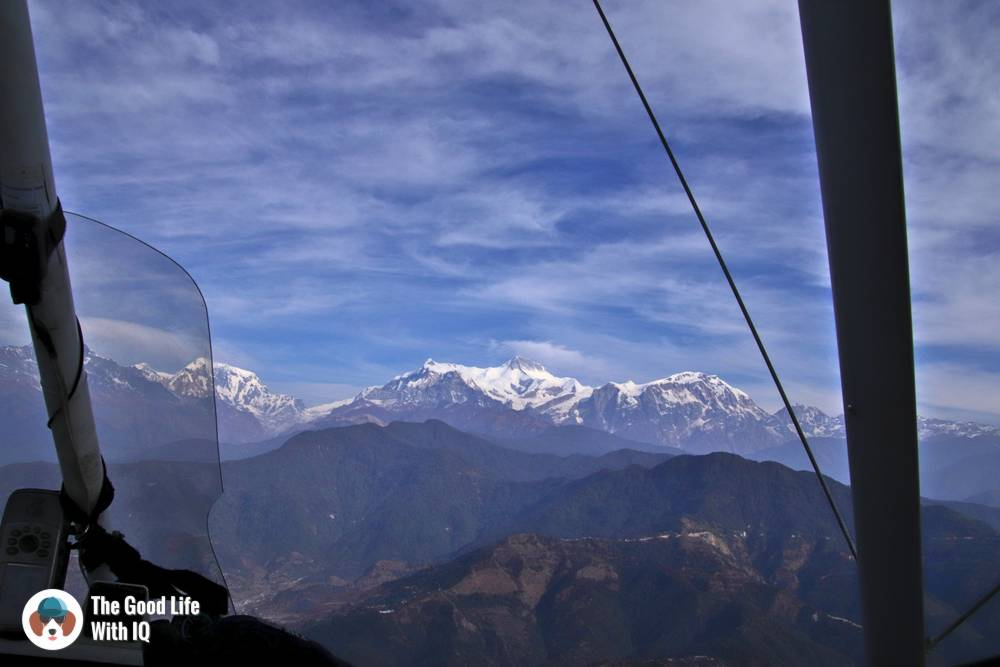 View of the Himalayas from an ultralight aircraft - Things to do in Pokhara, Nepal