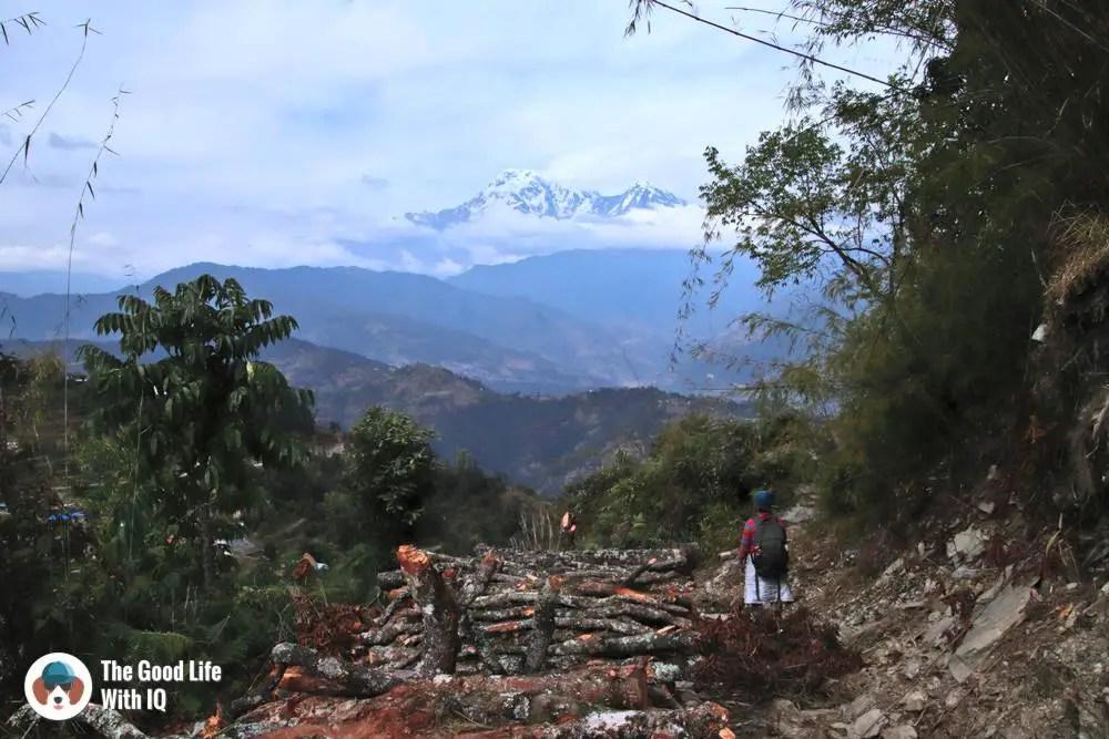 View of the Annapurna range from the Kaskikot-Deurali trail