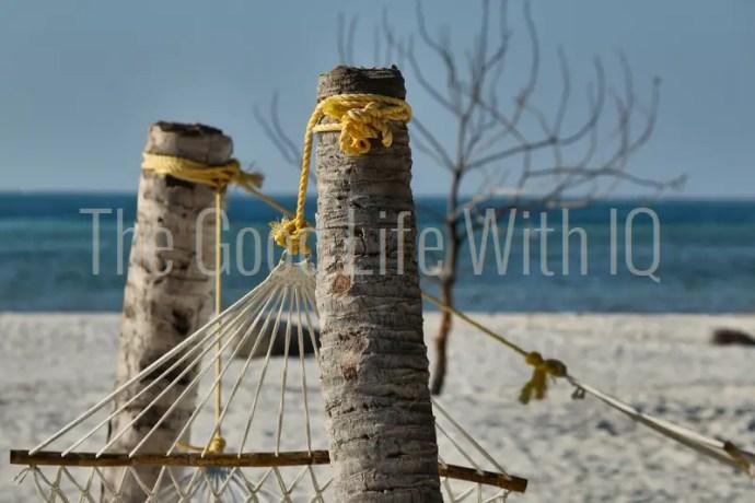 Hammock on the beach in Lakshadweep