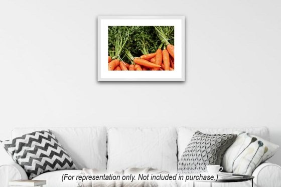 Bunches of carrots for sale at Doddabetta Peak, near Ooty, India