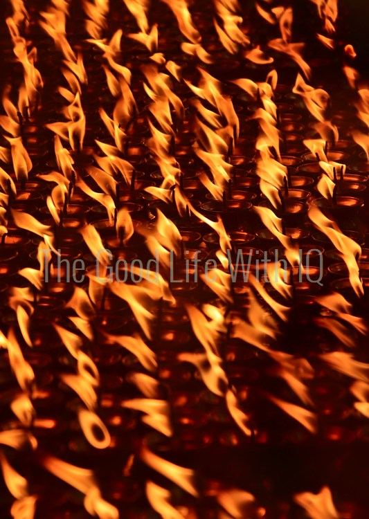Butter lamps in Dharamsala