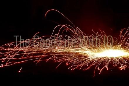 Pinwheel 'chakra' firework