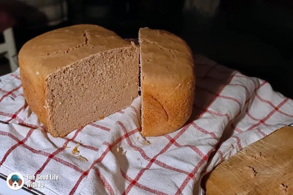 sourdough bread - cool before cutting