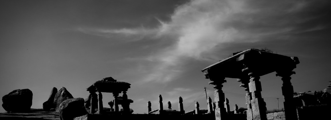 Opt-in background - Temples on Hemakuta Hill in Hampi, India