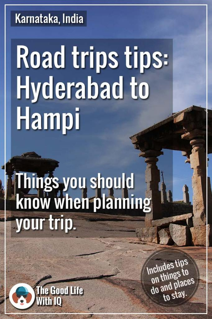 Pinterest thumbnail - Hyderabad to Hampi road trip