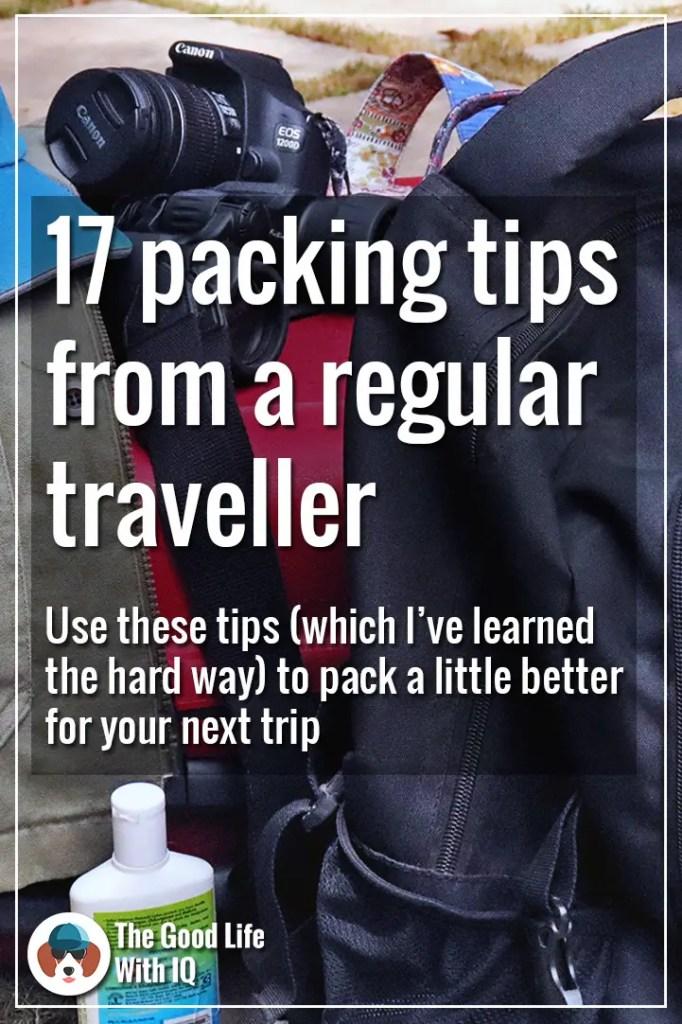 Packing tips - Pinterest thumbnail