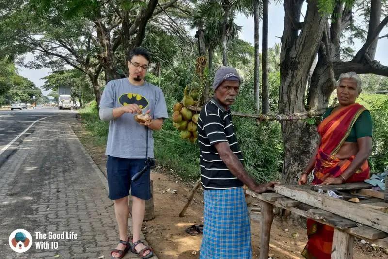 Coconut water between Chennai and Pondicherry