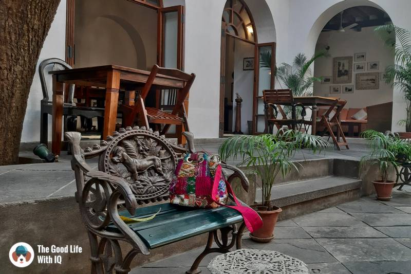 Gratitude Heritage Home, Pondicherry - courtyard