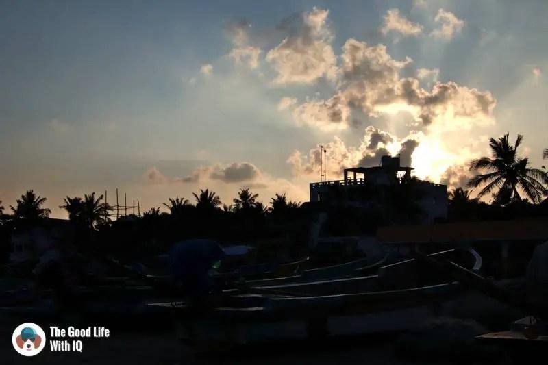 Sunset on serenity beach - 3 day trip to Pondicherry