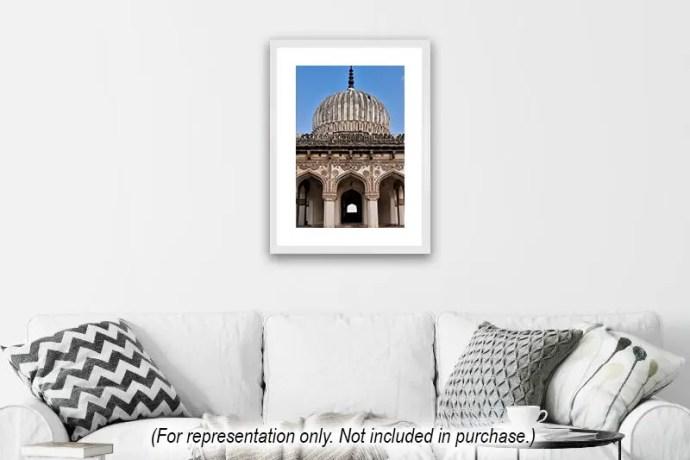 Vertical image of hakeems tomb in Hyderabad