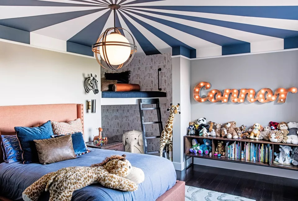 Circus-Inspired Ceiling in a Child's Room