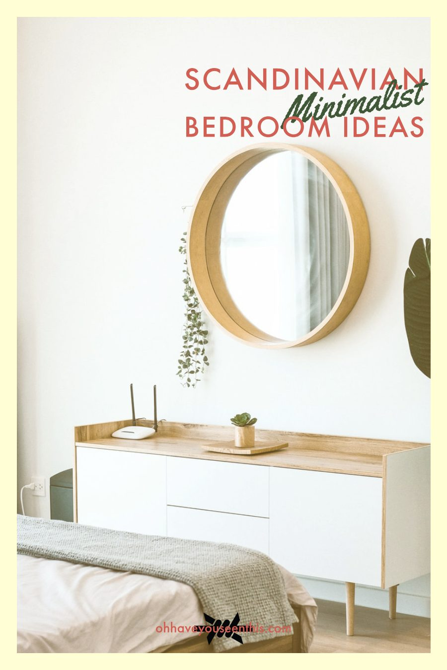 Scandivanian minimalist bedroom ideas