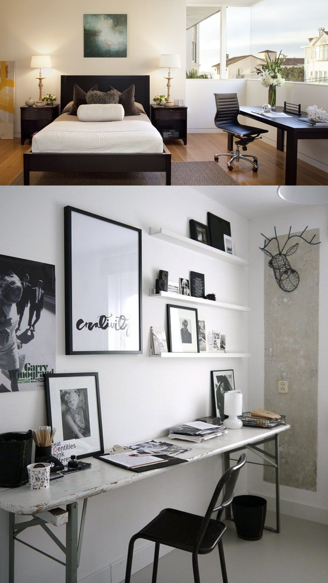 Bedroom with Working Space ideas
