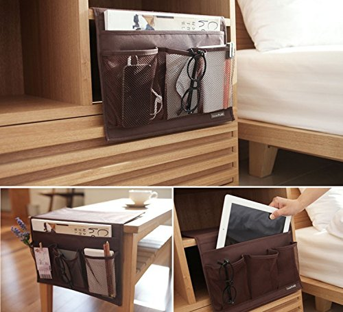 Clutter by the bedside Clean it up with a portable night stand.
