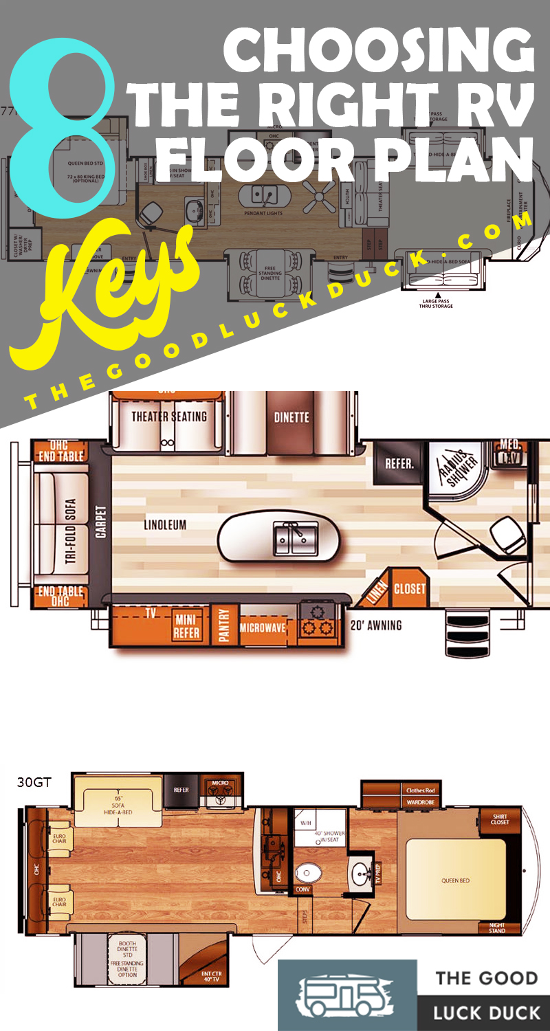 travel trailer floor plans no slide outs
