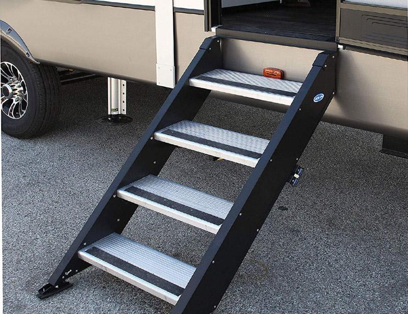rv steps with platform