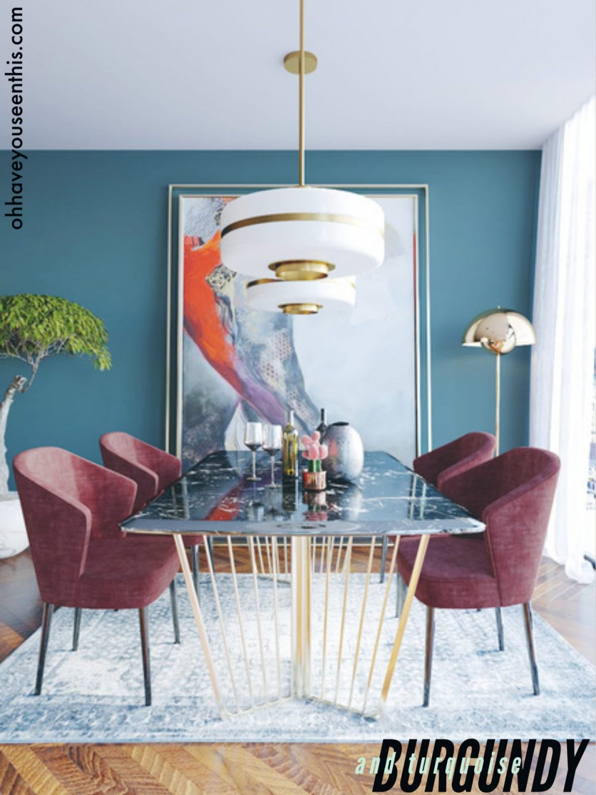 Turquoise Dining Room Ideas