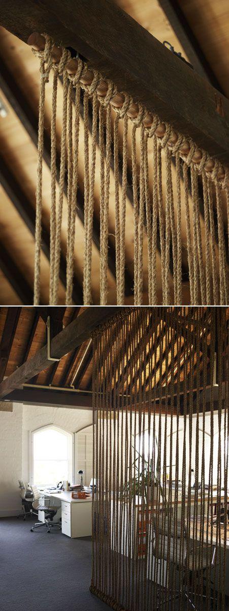 Simple Jute Rope Room Divider