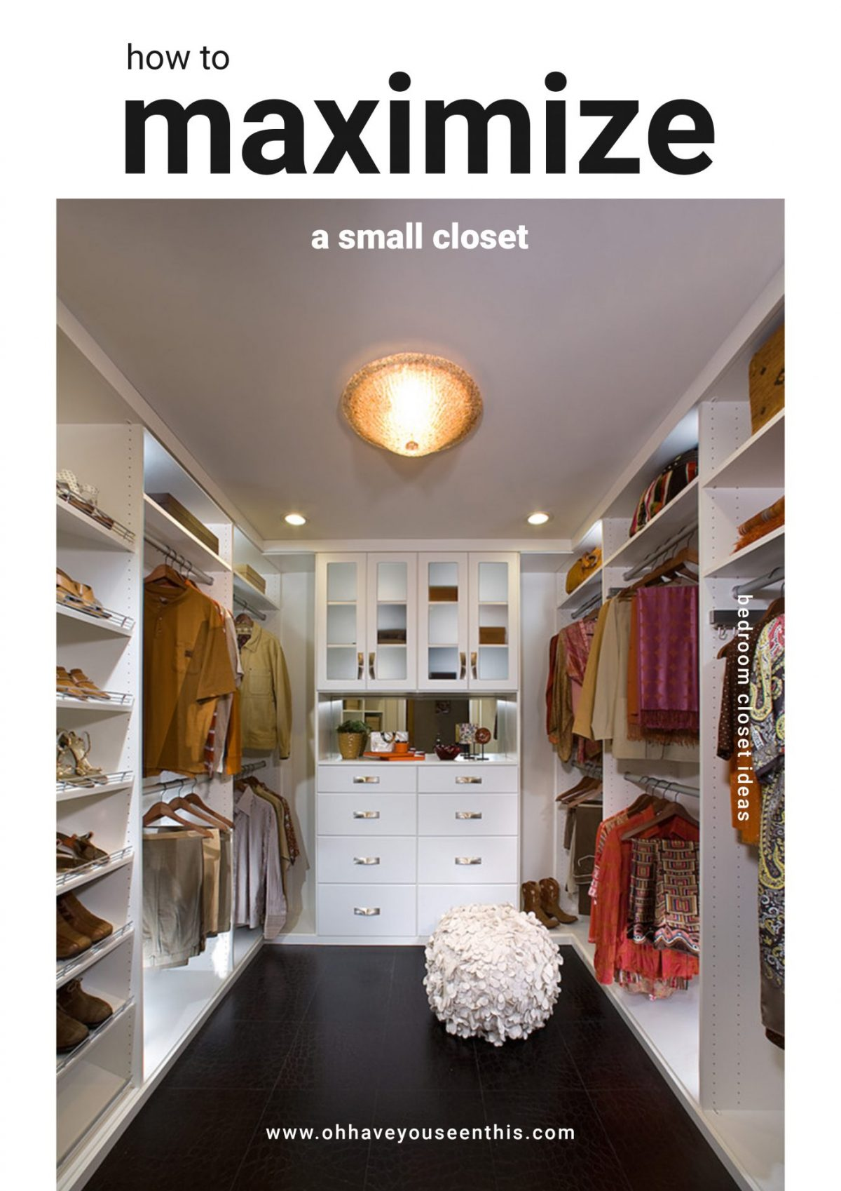 Bedroom Closet Ideas for Maximizing Small Space - The Good Luck Duck