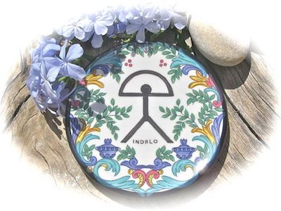 Indalo talisman ceramic