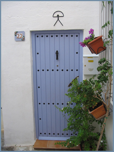 Mojacar Indalo on door