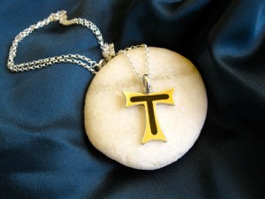 Tau cross St Francis symbol necklace