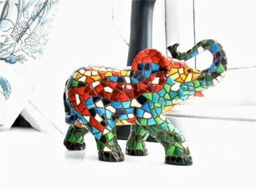 Lucky elephant guards house