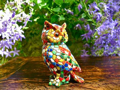 Spanish ceramic mosaic owl