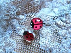 Good luck travel charm earrings