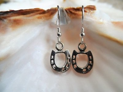 Horseshoe earring charm luck travelling