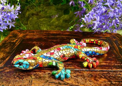 Ceramic mosaic art Catalonia