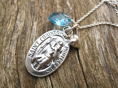 St Christopher a good luck symbol