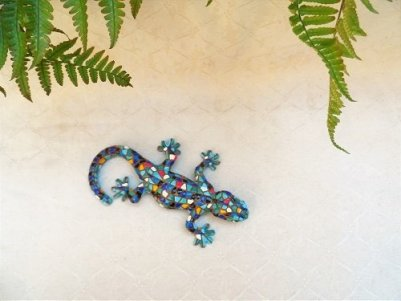 Ceramic gecko for luck
