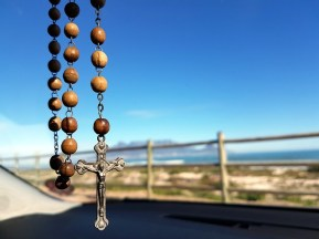 Christian rosary to ward off danger