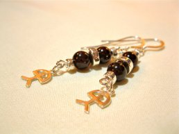 Garnet and lucky Indalo earrings