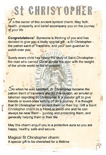 St Christopher gift card